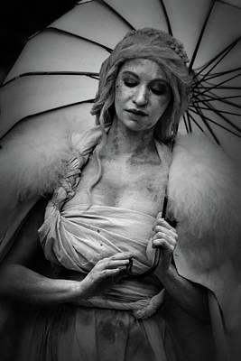 Photograph - Miss Havisham In Black And White by Nadalyn Larsen