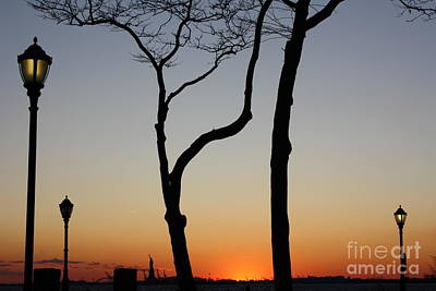 Photograph - Miss Liberty Sunset by Wilko Van de Kamp