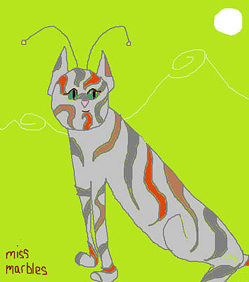Digital Art - Miss Marbles My Favorite Martian by Anita Dale Livaditis