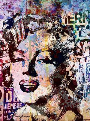 Mixed Media - Miss Marilyn by Angela Holmes