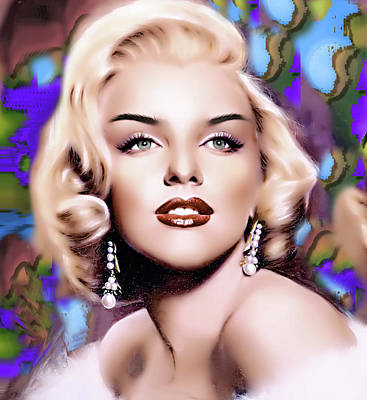 Digital Art - Miss Monroe by Karen Showell