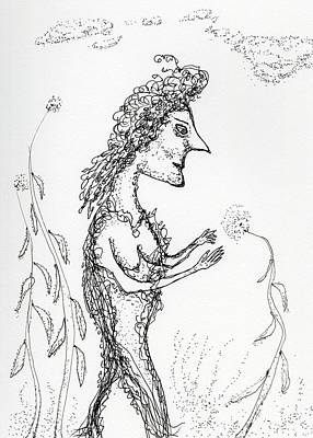 Drawing - Miss Mystique by Jim Taylor