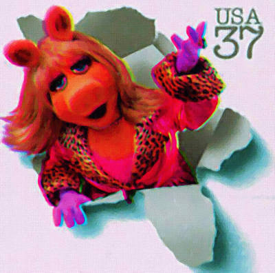 Miss Piggy Art Print by Lanjee Chee