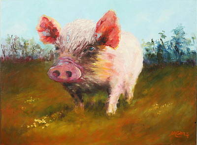 Marie Green Painting - Miss Piggy by Marie Green