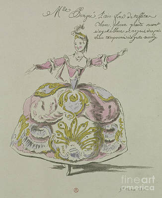 Skirt Drawing - Miss Puvigne As Air, In Zoroastre, A Libretto By Cahusac by French School