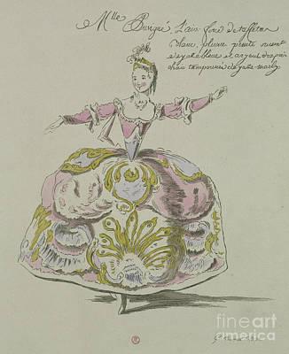Miss Puvigne As Air, In Zoroastre, A Libretto By Cahusac Art Print
