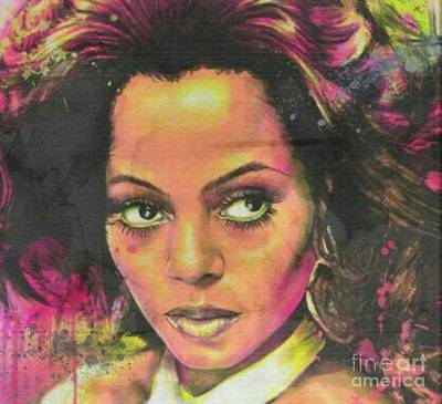 Diana Ross Painting - Miss Ross by Blackwater Studio