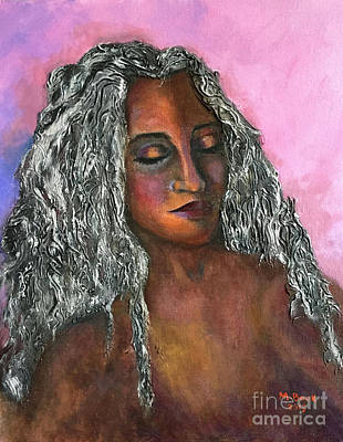Painting - Miss Saditty-women Of Color Series by Marlene Book