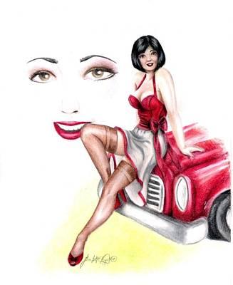 Miss Sassy Art Print by Scarlett Royal