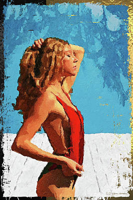 Digital Art - Miss Sunshine  by Serge Averbukh