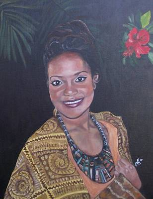 Painting - Miss Tropical by Kim Selig