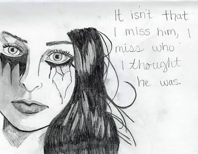 Miss Who He Was Art Print by Rebecca Wood