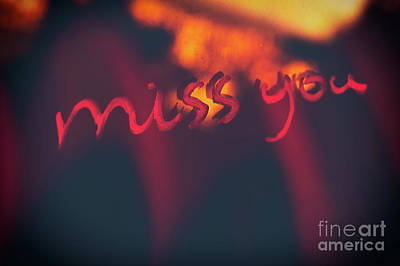 Photograph - Miss You by Anna Om