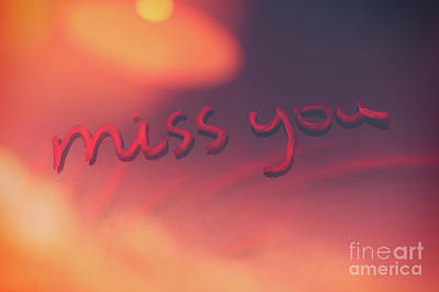 Photograph - Miss You Background by Anna Om