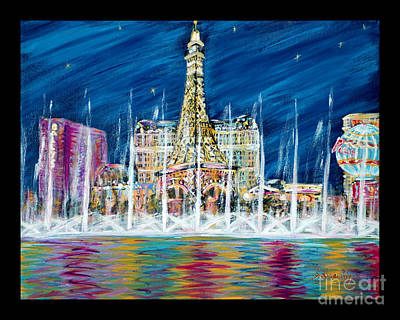 Painting - Miss You Las Vegas. Beautiful City View by Oksana Semenchenko