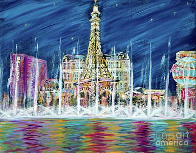 Painting - miss You Las Vegas  card 13.1.7  by Oksana Semenchenko