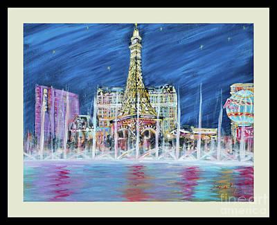 Painting - Miss You Las Vegas  Card 22.5 by Oksana Semenchenko