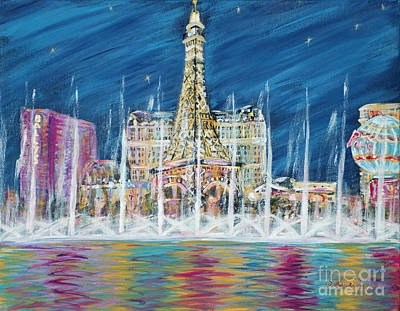 Painting - Miss You Las Vegas. Inspirations Collection  by Oksana Semenchenko