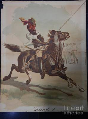 Man On Horse Painting - Missed By Lady Elizabeth by MotionAge Designs