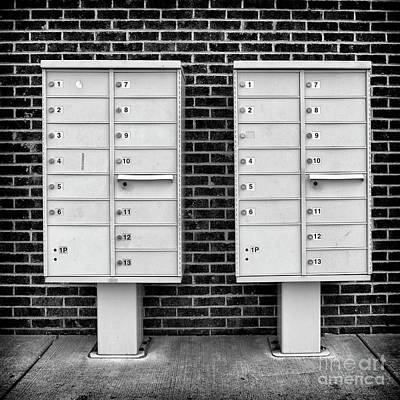 Mail Box Photograph - Missing 1 3 by Patrick M Lynch