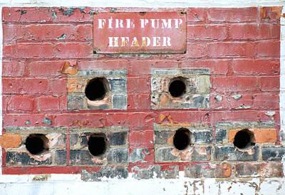Vandalize Photograph - Fire Pump Header  by Sandra Church