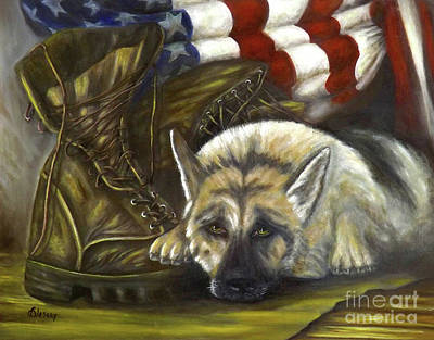 Missing His Buddy Original by Donna Vesely
