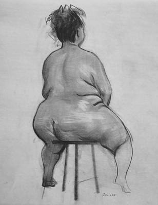Drawing - A Supporting Stool by Robert Holden