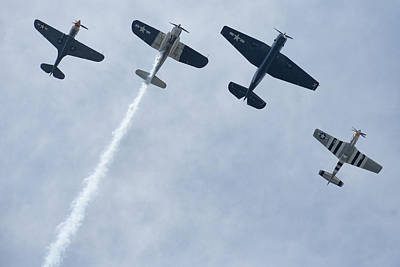 Missing Man Formation Photograph - Missing Man by Beau Finley
