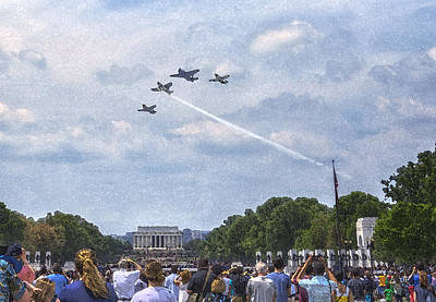 Missing Man Formation Photograph - Missing Man Flyover by Larry Helms