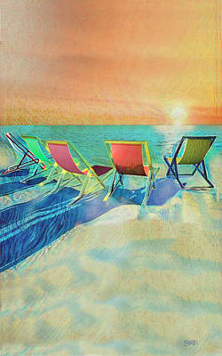 Empty Chairs Painting - Missing The Sun by Joseph Bird