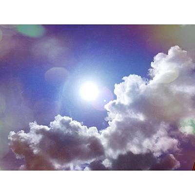 Cloud Wall Art - Photograph - Missing The Sunshine Today #mobilepics by Joan McCool