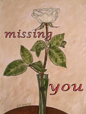 Missing You Painting - Missing You 2 by Patrick J Murphy