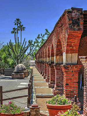Photograph - Mission Arches by Richard Stephen