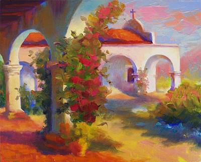 Mission Capistrano Art Print by Maryanne  Jacobsen