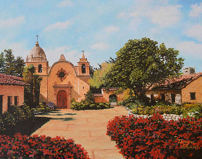 Painting - Mission Carmel by Duwayne Williams