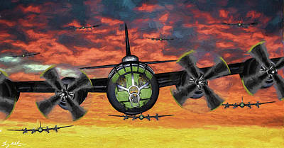 Superfortress Digital Art - Mission Completed - Oil by Tommy Anderson