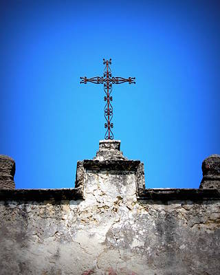 Photograph - Mission Concepcion - Cross by Beth Vincent