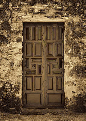 Mission Concepcion Door #2 Art Print by Stephen Stookey