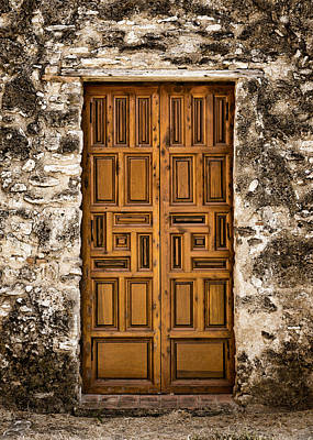 Mission Concepcion Door #3 Art Print by Stephen Stookey