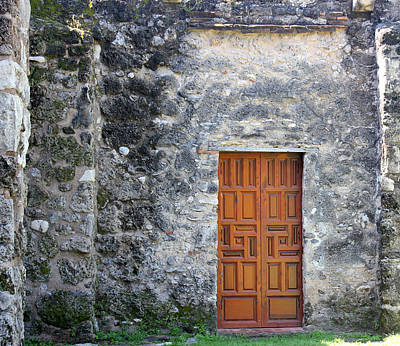 Photograph - Mission Concepcion Door by Mary Bedy