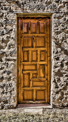 Mission Concepcion Door Art Print