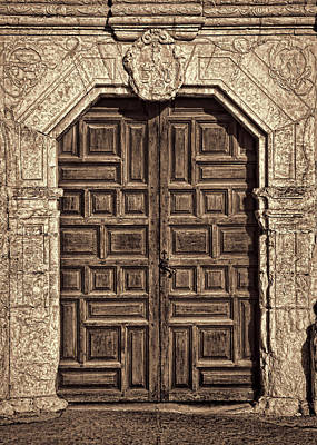 Mission Concepcion Doors - Sepia Art Print