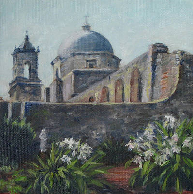Mission Concepcion In San Antonio Art Print