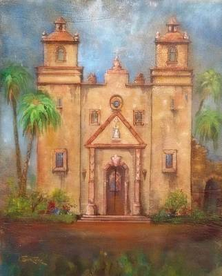 Lynn Burton Wall Art - Painting - Mission Concepcion by Lynn Burton