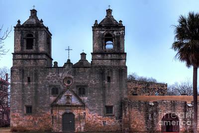 Photograph - Mission Concepcion San Antonio Texas by Wayne Moran