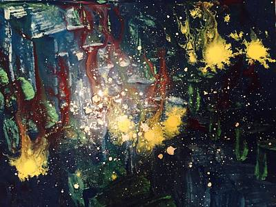 Abstract Sights Painting - Mission Control - Reason Drifting From Sight by Edward Paul