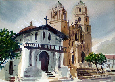Plein Air Painting - Mission Deloris by Donald Maier