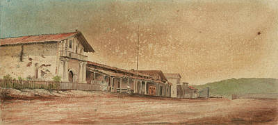 1850s Painting - Mission Dolores by MotionAge Designs
