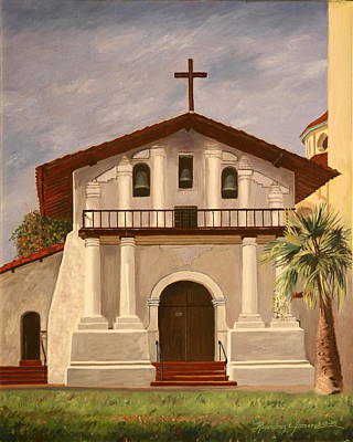 Painting - Mission Dolores by Rosencruz  Sumera