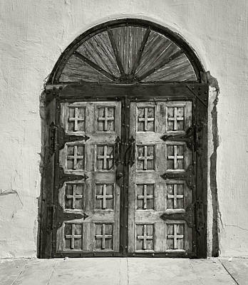 Photograph - Mission Door by Bud Simpson